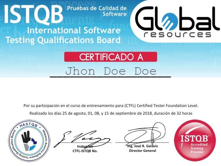 certificado istqb modelo